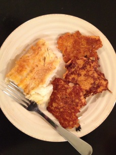 White fish & Sweet Potato Pancakes